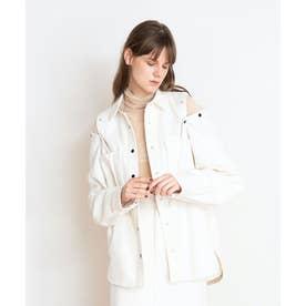 フランネルシャツジャケット (オフホワイト)