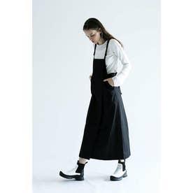 バッククロスジャンパースカート (ブラック)