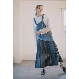DENIM OVERALL REMAKE JUMPER SKIRT (BLUE)