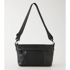 PUNCHING ECO LEATHER POCHETTE BLK