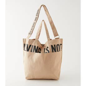 LIVING IS NOT LOGO TOTE BAG BEG
