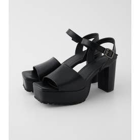 RUGGED SOLE SANDALS BLK