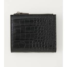 ECO CROCODILE SKIN MINI WALLET BLK