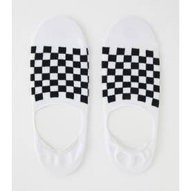 CHECERED FLAG STEP IN SOCKS 柄WHT5