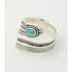 SILVER FEATHER RING SLV