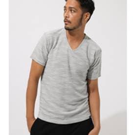 SLAB INLAY V/N TEE/スラブインレイVネックTシャツ WHT