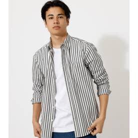 STRIPE BASIC SHIRT/ストライプベーシックシャツ 柄GRY