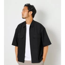 ZIP UP SHIRT JACKET/ジップアップシャツジャケット BLK