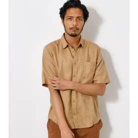 LEAF JACQUARD SHIRT/リーフジャガードシャツ CAM