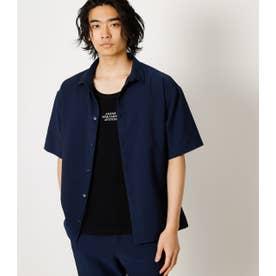 SEERSUCKER SHIRT/シアサッカーシャツ NVY
