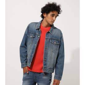 WASH DENIM JACKET BLU