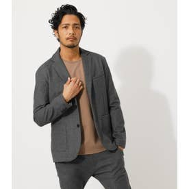 STRETCH PONTE TAILORED JACKET 柄GRY5