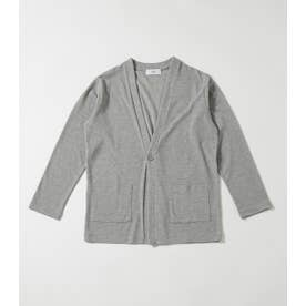 ONE BUTTON CUT CARDIGAN T.GRY