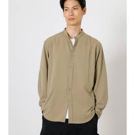 SYNTHETIC NO COLLAR SHIRT/シンセティックノーカラーシャツ