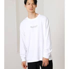 SIMPLE LOGO LONG TEE/シンプルロゴロングTシャツ WHT