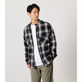 NO COLLAR CHECK SHIRT/ノーカラーチェックシャツ