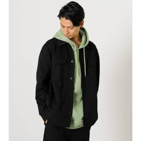 PUNCH W POCKET SHIRT JACKET BLK
