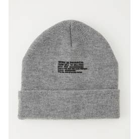 MESSAGE KNIT CAP T.GRY