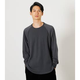 RAGLAN SWITCHING LONG TEE L/BLK1