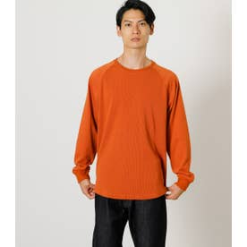 RAGLAN SWITCHING LONG TEE D/ORG3
