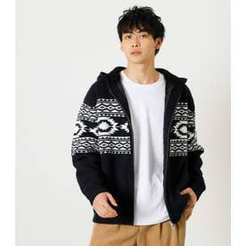 CHIMAYO QUILTING KNIT BLOUSON 柄NVY5
