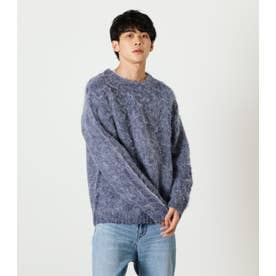 SHAGGY PULLOVER KNIT NVY
