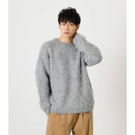SHAGGY PULLOVER KNIT GRY