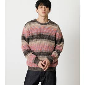 MULTICOLOR WAFFLE KNIT 柄PNK5