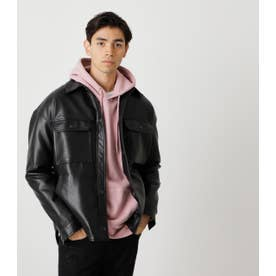 ECO LEATHER CPO JACKET BLK