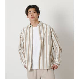 SUPIMA COTTON SHIRT 柄BEG5