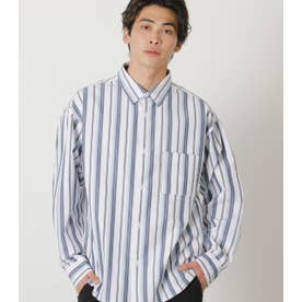 SUPIMA COTTON SHIRT 柄BLU5