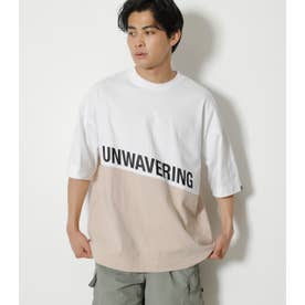 GUT IT OUT BICOLOR TEE 柄BEG5