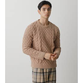 CHENILLE CABLE PULLOVER BEG