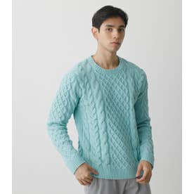 CHENILLE CABLE PULLOVER MINT