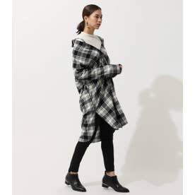 3WAY CHECK LONG SHIRT/3WAYチェックロングシャツ 柄BLK