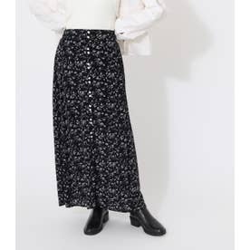 PEDICEL BUTTON SKIRT/ペディセルボタンスカート 柄BLK