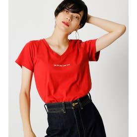 ON N'A V NECK TEE/オンナVネックTシャツ RED