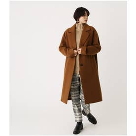 OVER LOOSE CHESTER COAT BRN