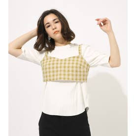 GINGHAM CHECK BUSTIER TOPS 柄LIME5