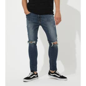 CUT OFF CRASH SKINNY D/BLU3