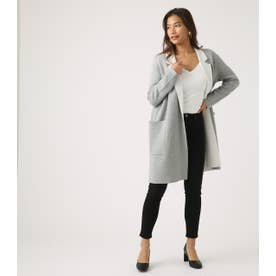 COCOON KNIT COAT T.GRY