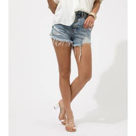 CRASH DENIM SHORT PANTS BLU