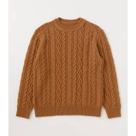CABLE PATTERN C/N KNIT CAM