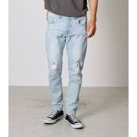 CUT OFF CRASH SKINNY L/BLU1