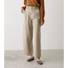 COLOR HIGH WAIST LOOSE PANTS/カラーハイウエストルーズパンツ L/BEG