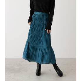 MAJOLICA PLEATS LONG SKIRT/マジョリカプリーツロングスカート D/BLU