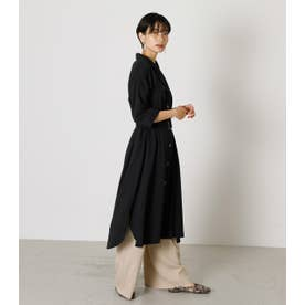 TRENCH LONG SHIRT GOWN BLK