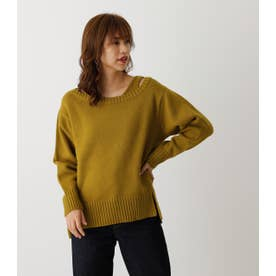 2WAY LAYERED SET KNIT TOPS LIME