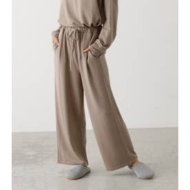 SMOOTH TOUCH WIDE PANTS BEG