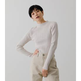 SNOWY HIGH NECK KNIT TOPS IVOY3